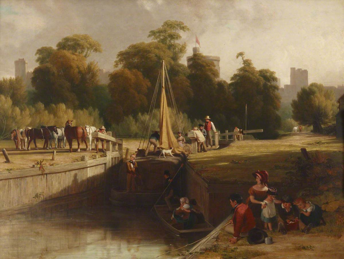 William Frederick Witherington (1785-1865) - The Old Lock, Windsor, 1817 - 515645 - National Trust.jpg