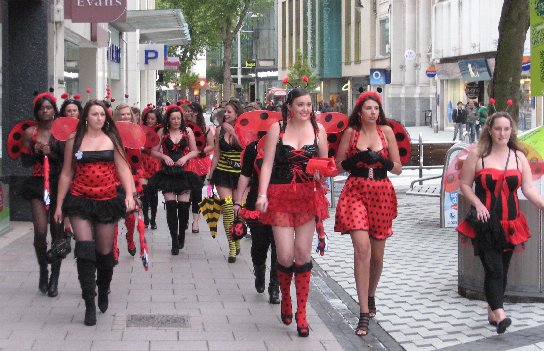 File Women In Fancy Dress Cardiff Wales Uk 29may2010 Jpg