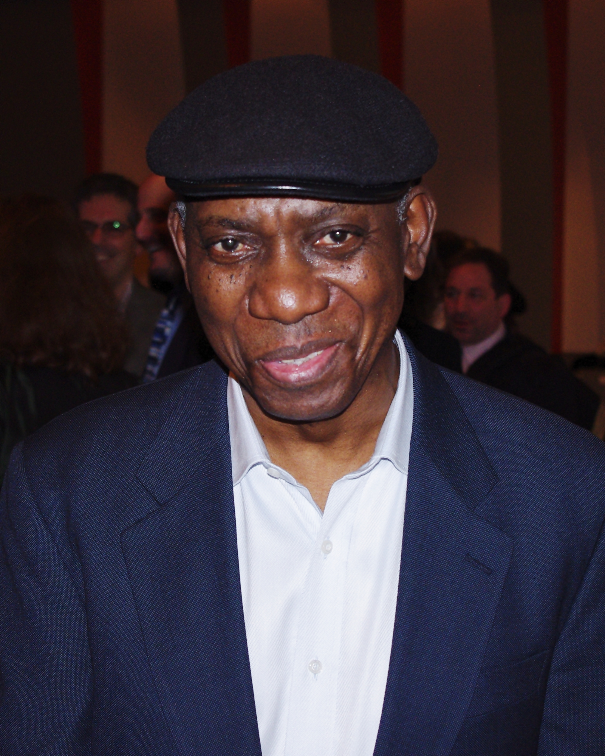 Komunyakaa at the 2011 [[National Book Critics Circle Awards]] in March 2012; his book ''The Chameleon Couch'' was nominated for the poetry award.