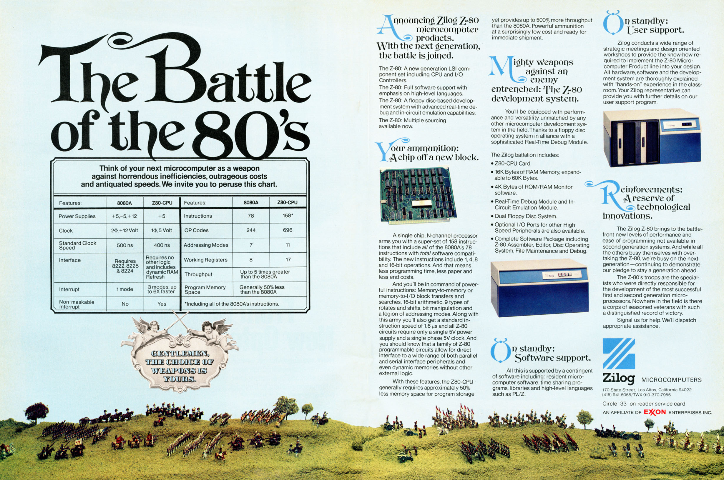 Battle of the 80's - advertisement for the Z80 from May 1976