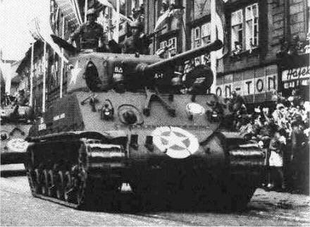 M4A3(76)W HVSS participating in a World War II victory parade 8th shrm.jpg