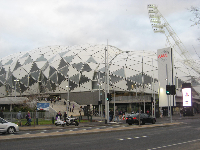 Melbourne Rectangular Stadium vu de l'extèrieur