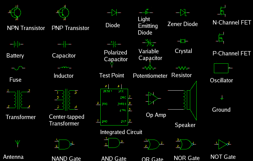Audio Wiring Symbols - Wiring Diagram Img
