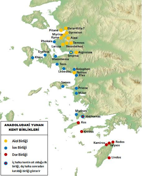 Anadolu'daki Yunan kent birlikleri