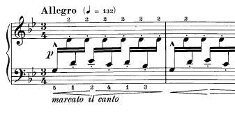 Inicio de Asturias (Leyenda), de Isaac Albéniz