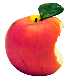 File:Apple with a bite taken out of it.png