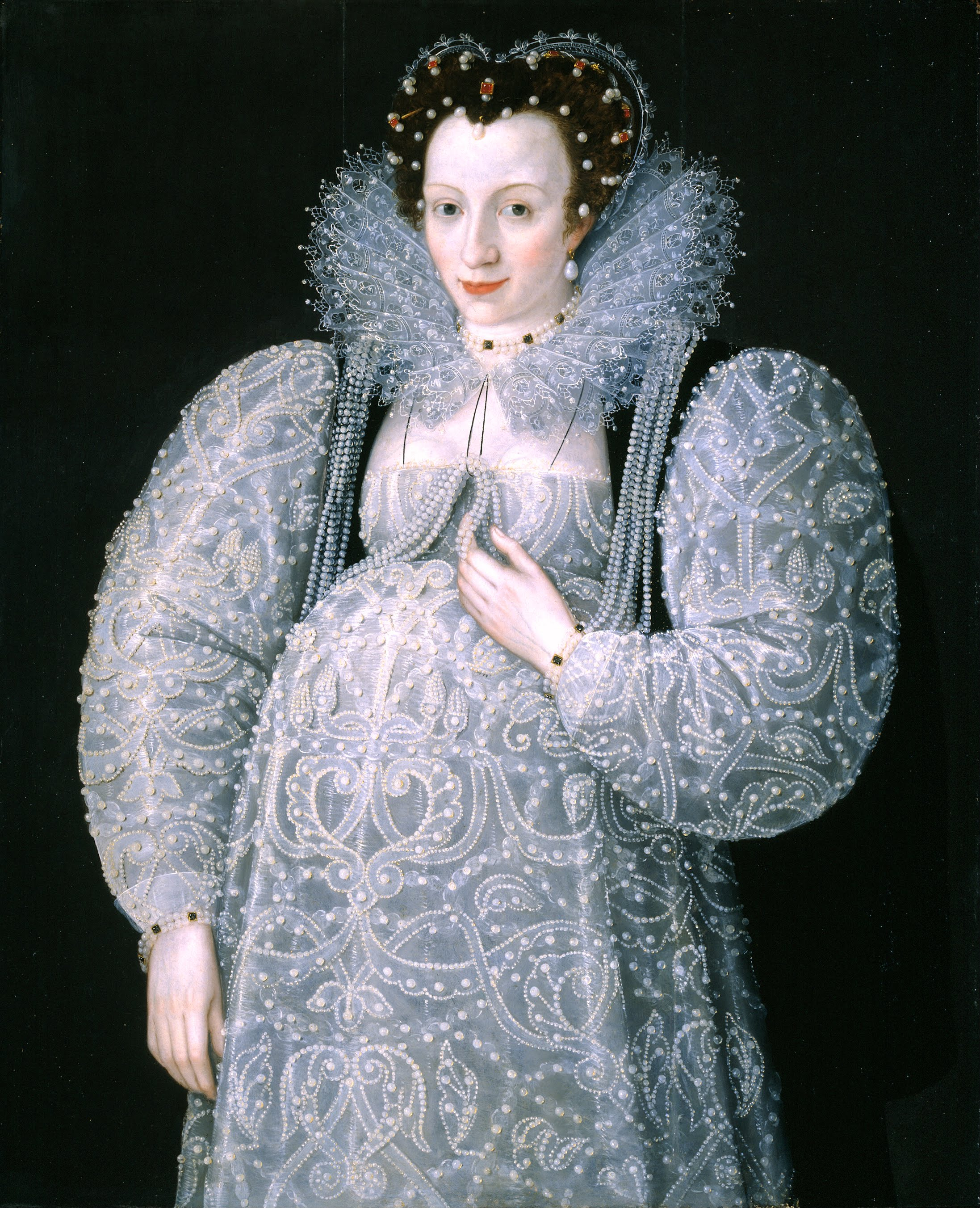 Maternity clothing wikipedia a waistless maternity dress fits a pregnant woman in late 16th century elizabethan england ombrellifo Image collections