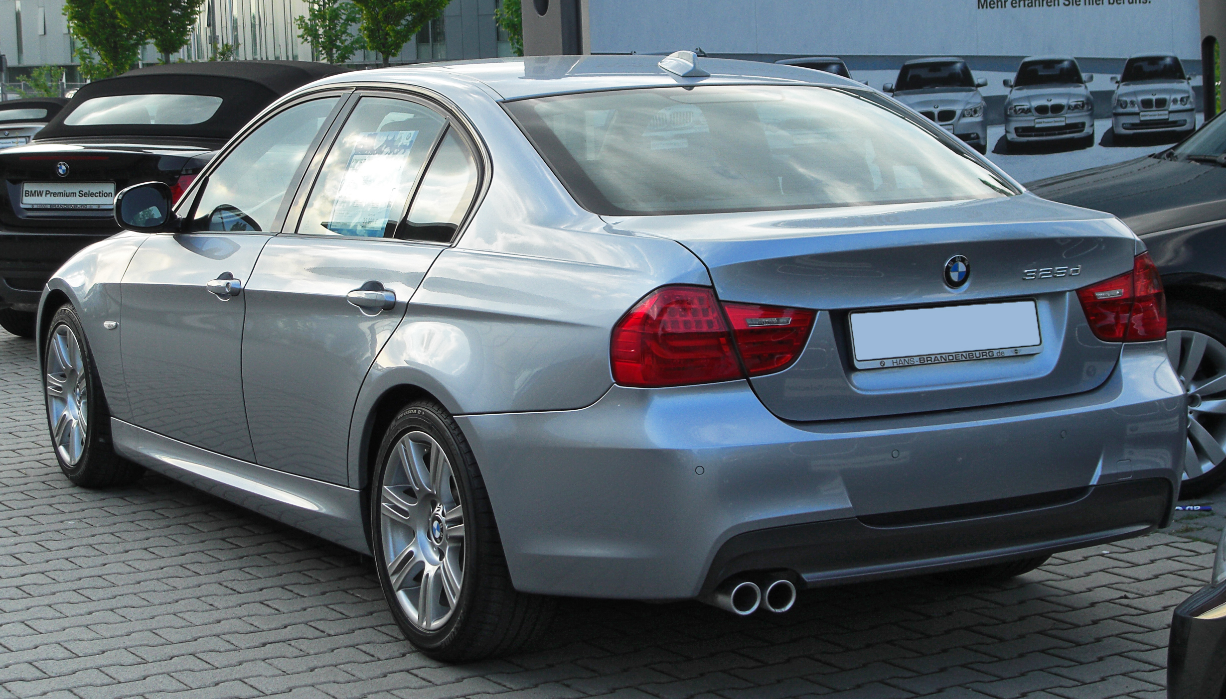 file bmw 325d m sportpaket e90 facelift rear. Black Bedroom Furniture Sets. Home Design Ideas
