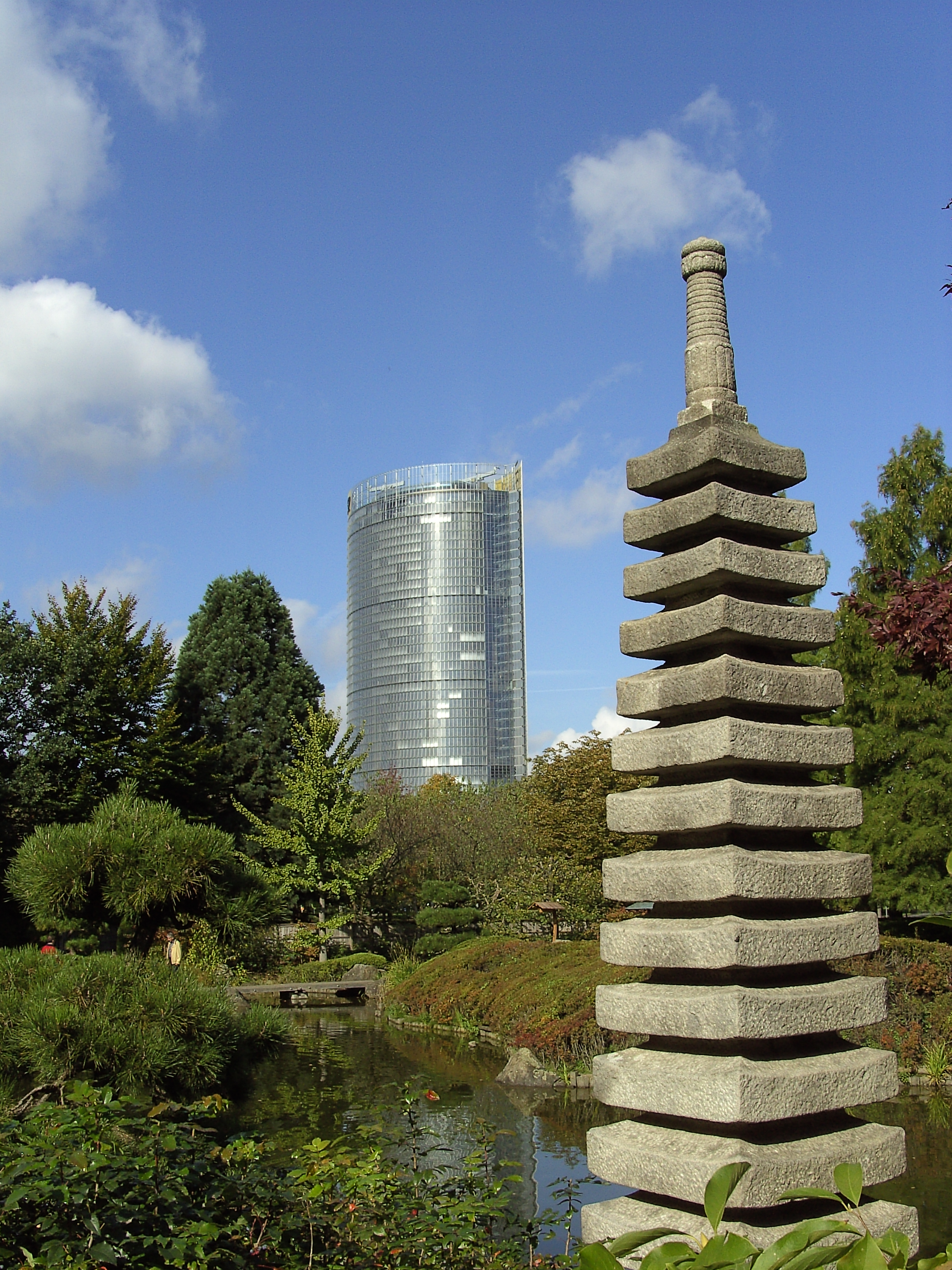 File bonn posttower rheinaue japanische garten jpg - Japanische garten deutschland ...