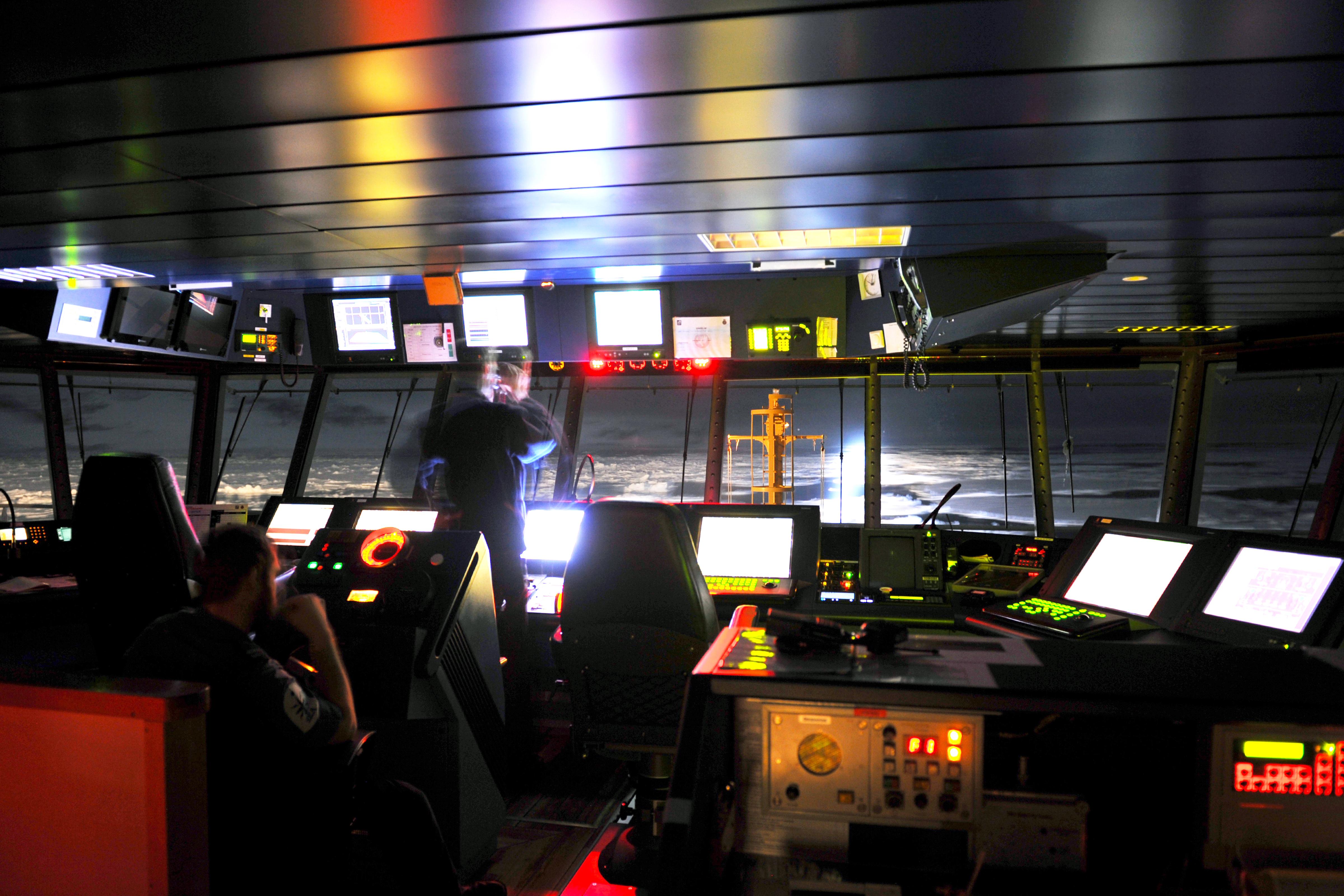 File:Bridge of HMS Protector at Night MOD 45154036.jpg ...