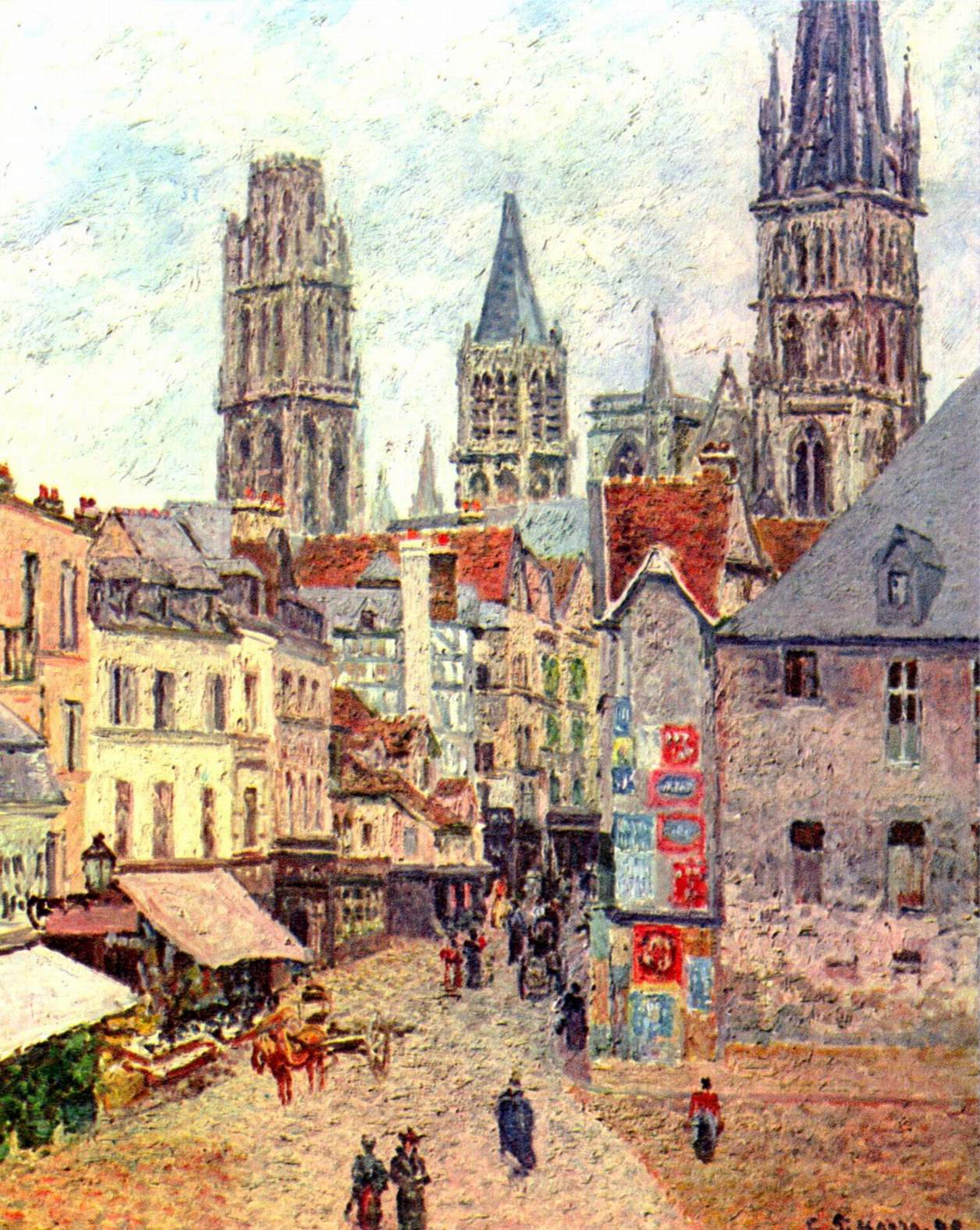 File camille pissarro wikimedia commons for Architecture celebre