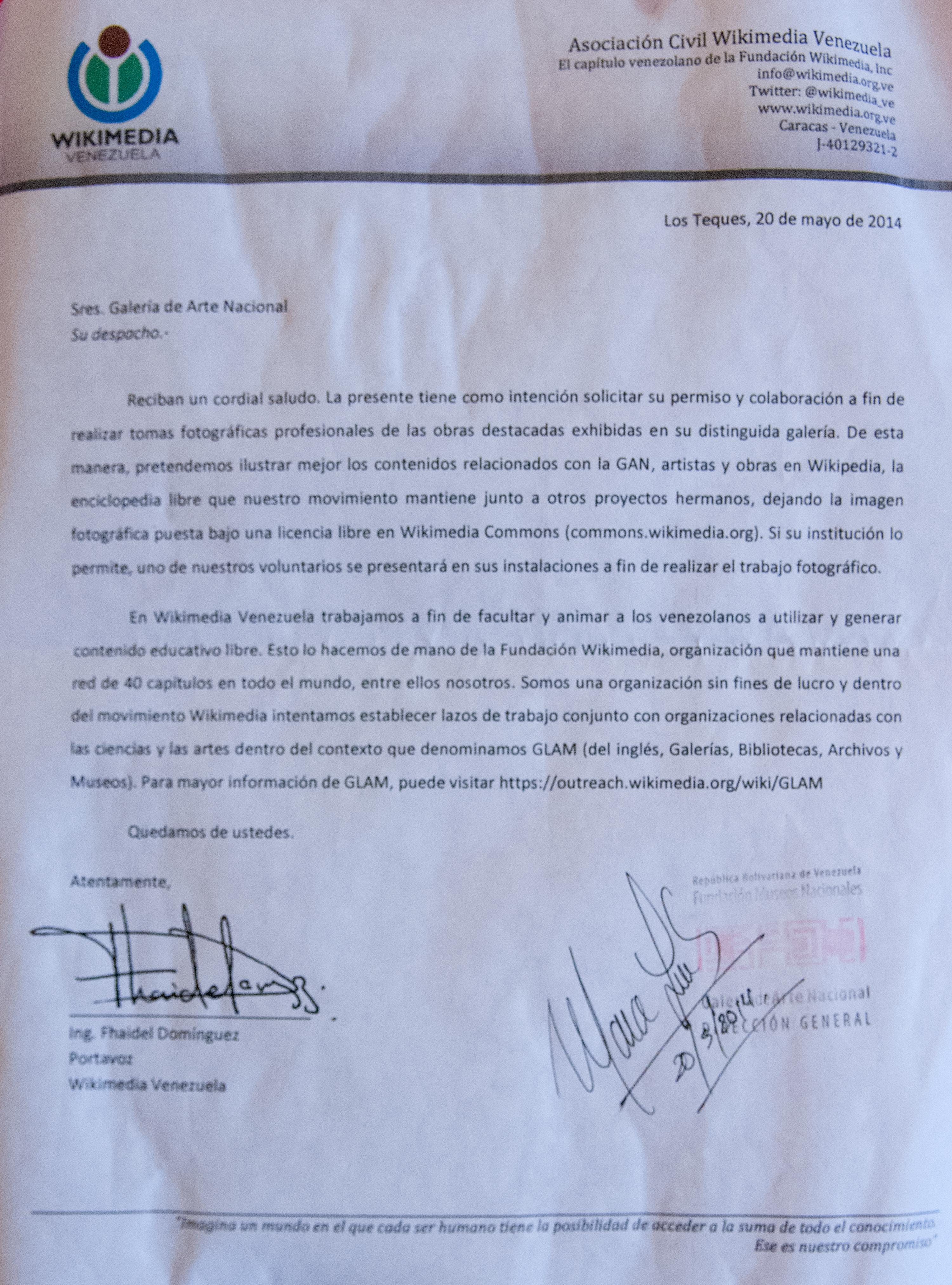 Filecarta De Permiso Para Realizar Fotografas Profesionales Clock Pulse Generator With Cd4049 Wikimedia Venezuela A La Galera