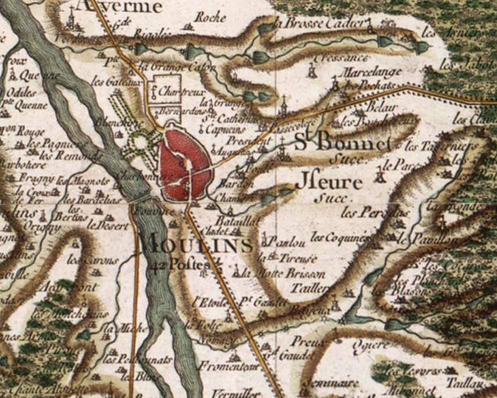 Plan Centre Ville Moulins