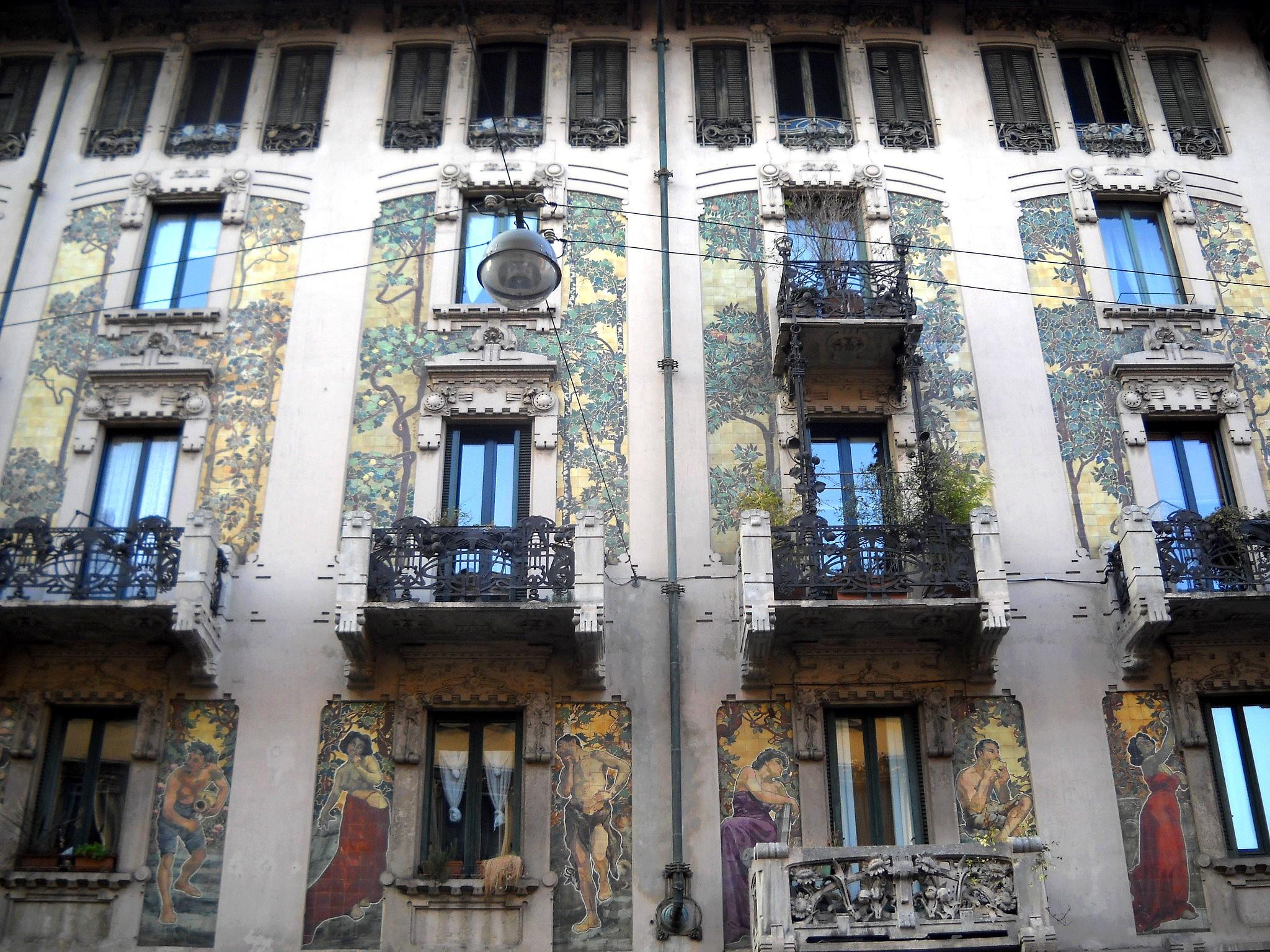 File casa galimberti milano wikipedia - Casa stile liberty ...