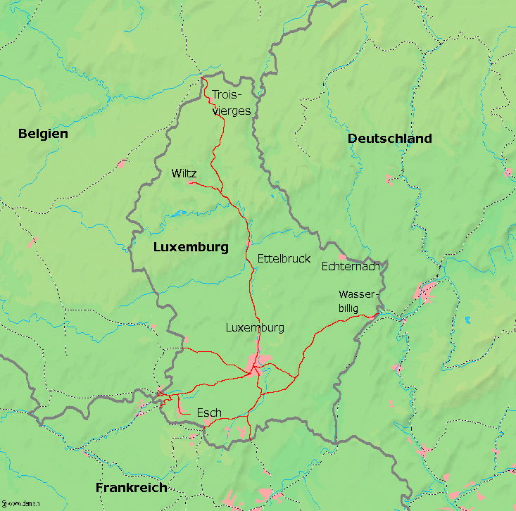 Map Of Germany Luxembourg Belgium.Transport In Luxembourg Wikipedia