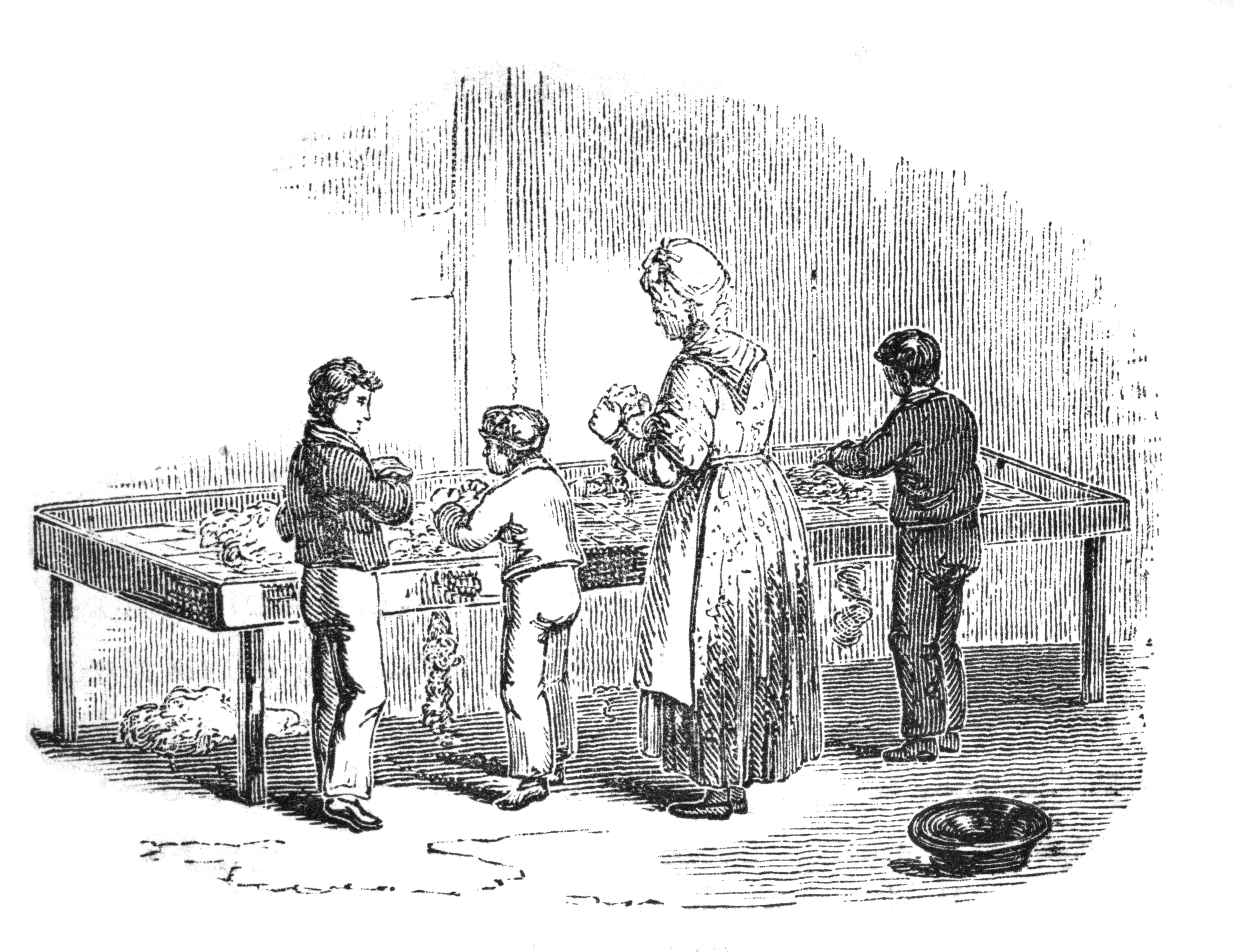 File:Children in a cotton factory 'picking cotton', 1844 Wellcome M0013539.