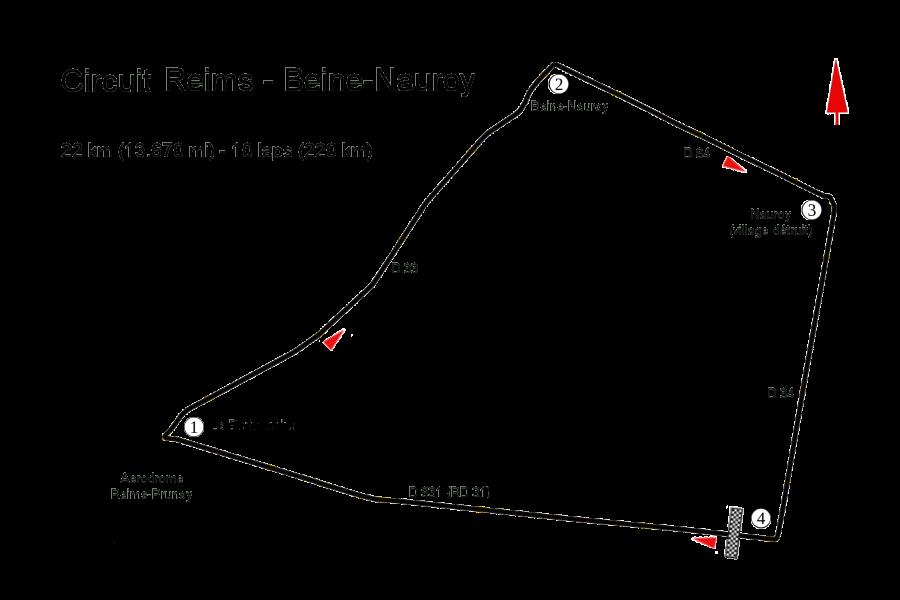 Circuit Reims - Beine-Nauroy 1925