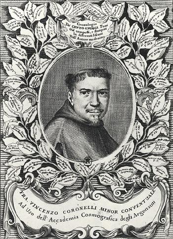 Vincenzo Coronelli, from the frontispiece of the folio edition of ''Atlante Veneto''