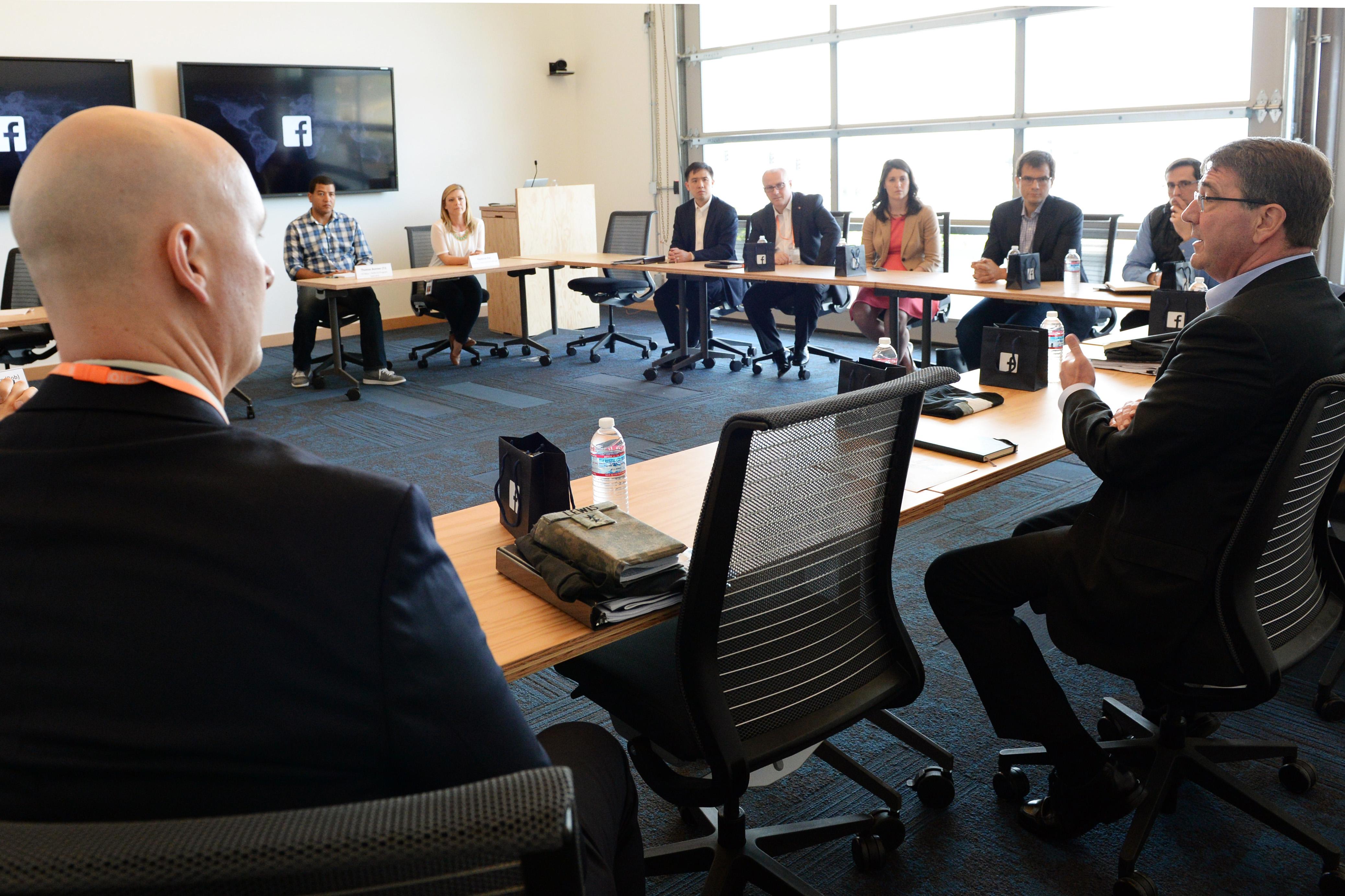 File Defense Secretary Ash Carter Has A Roundtable Meeting
