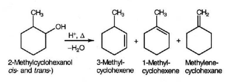results of dehydration of 2 methylcyclohexanol Modification to an earlier procedure that allows students to observe the results of a hydride the dehydration of 2-methylcyclohexanol revisited: the evelyn effect.