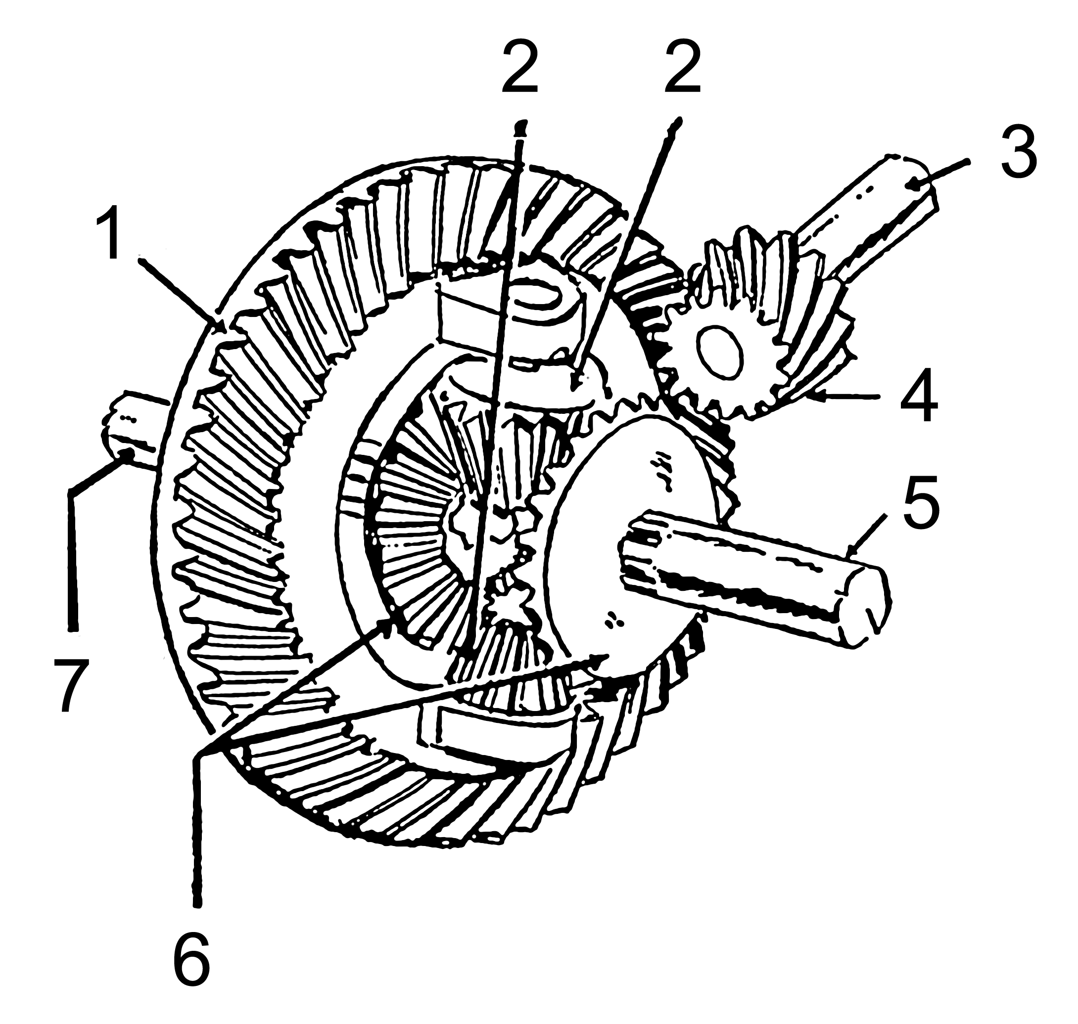 Description Differential gear  PSF  pngDifferential Gear Diagram