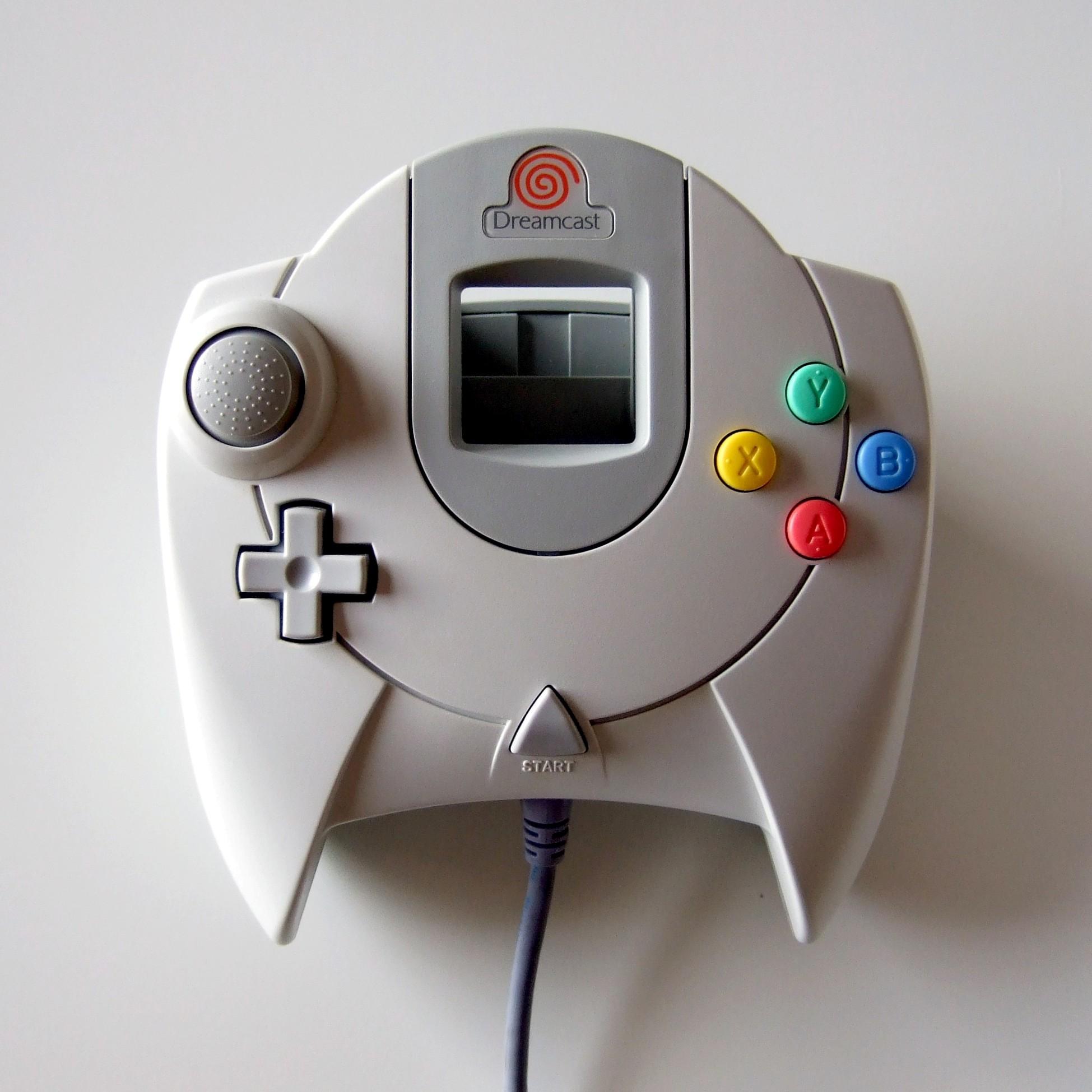 File:Dreamcast controller (lit from left).jpg