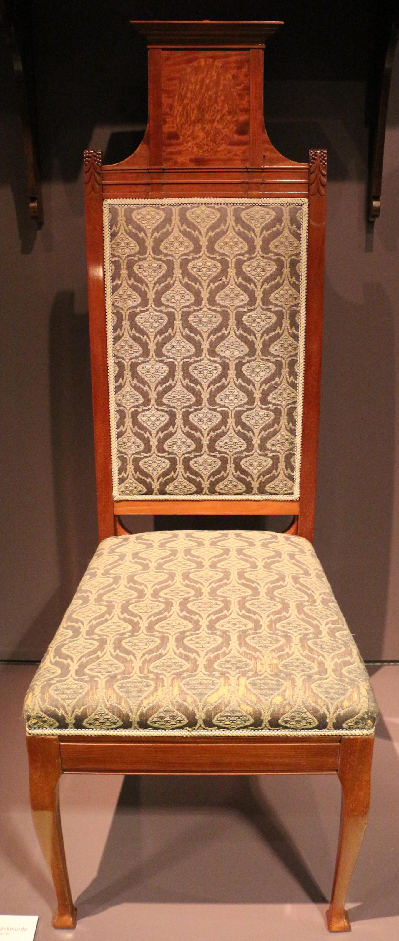 File e goodall co arthur heygate mackmurdo sedia - Sedia da pranzo ...