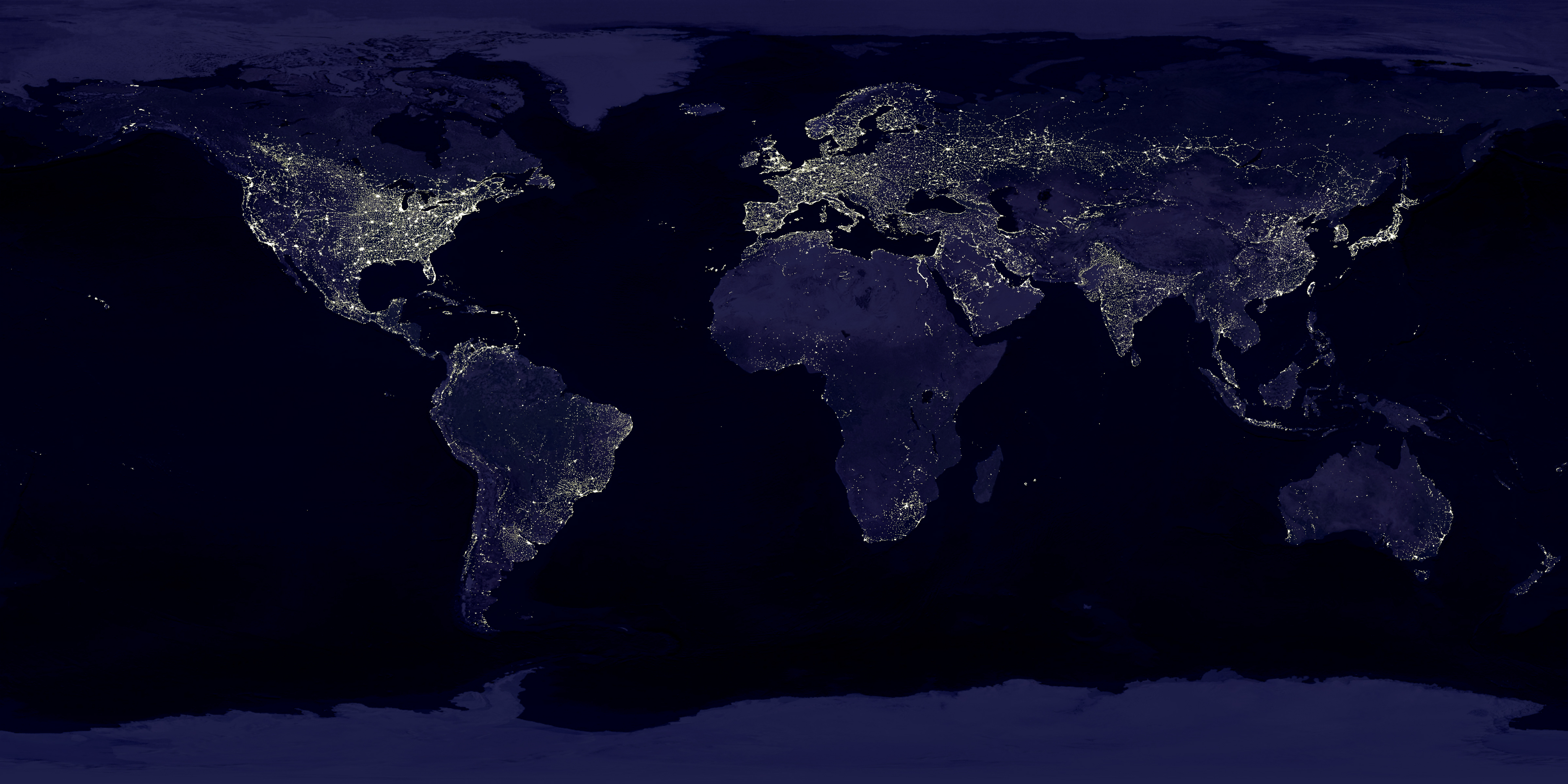 Earth s City Lights by DMSP 1994 1995 large