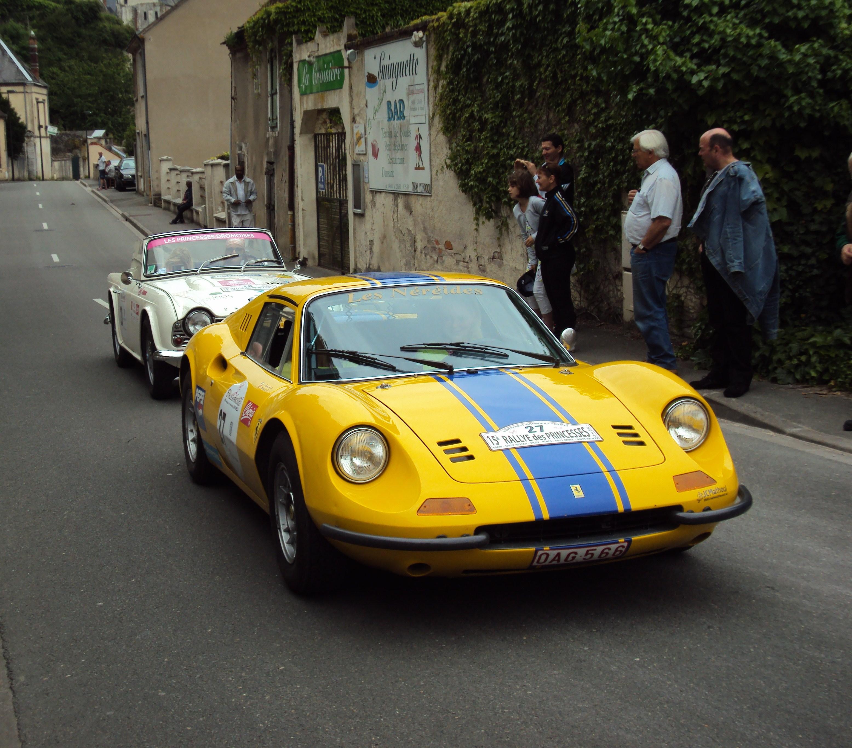 ferrari dino yellow. file:ferrari dino 246 gts spider (1972) - triumph tr4 (1964) ferrari yellow