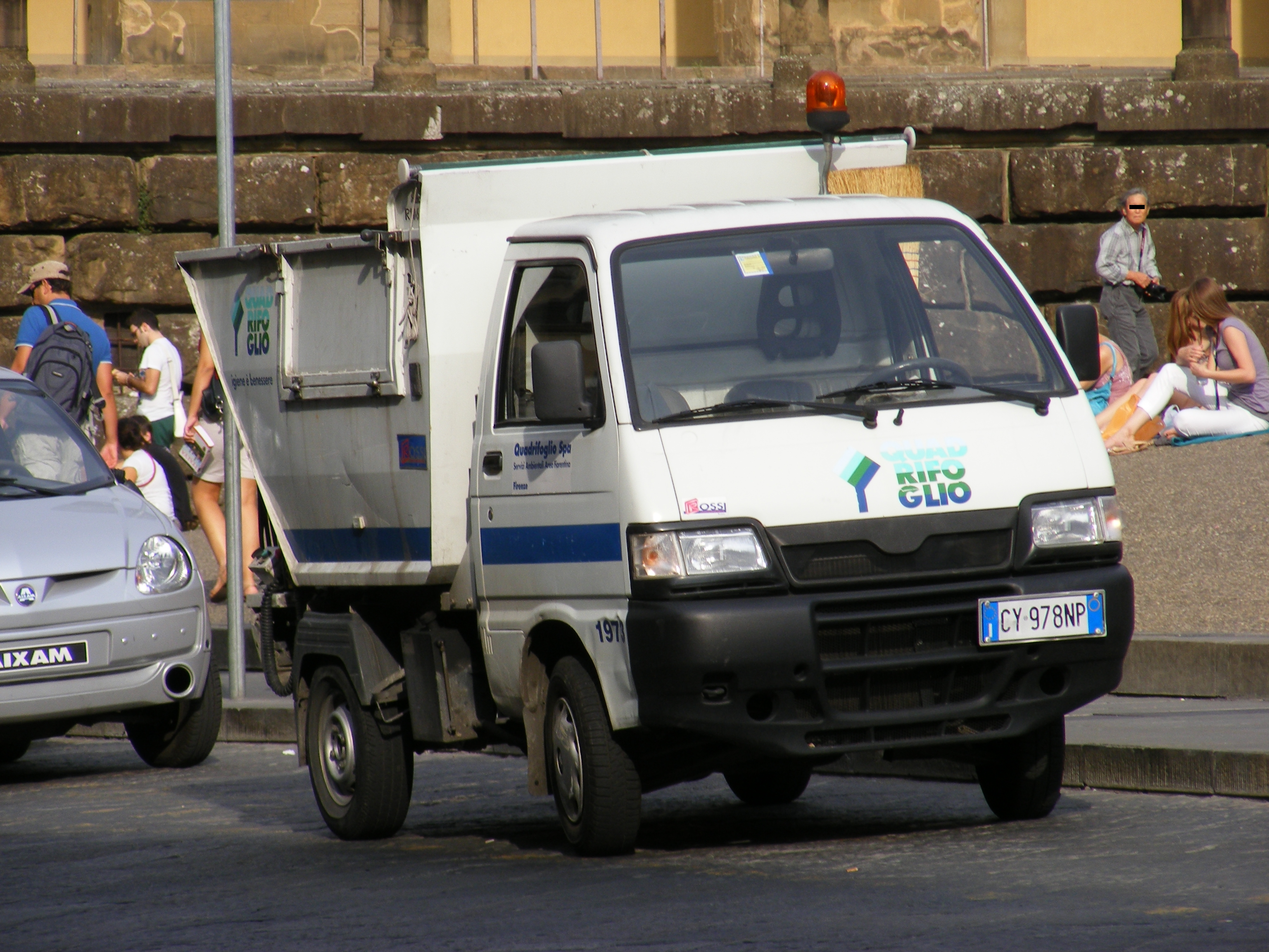 file:florence - piaggio porter waste collection vehicle with