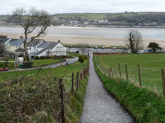 Footpath with a view of the River Towy, Llansteffan - geograph.org.uk - 1242530