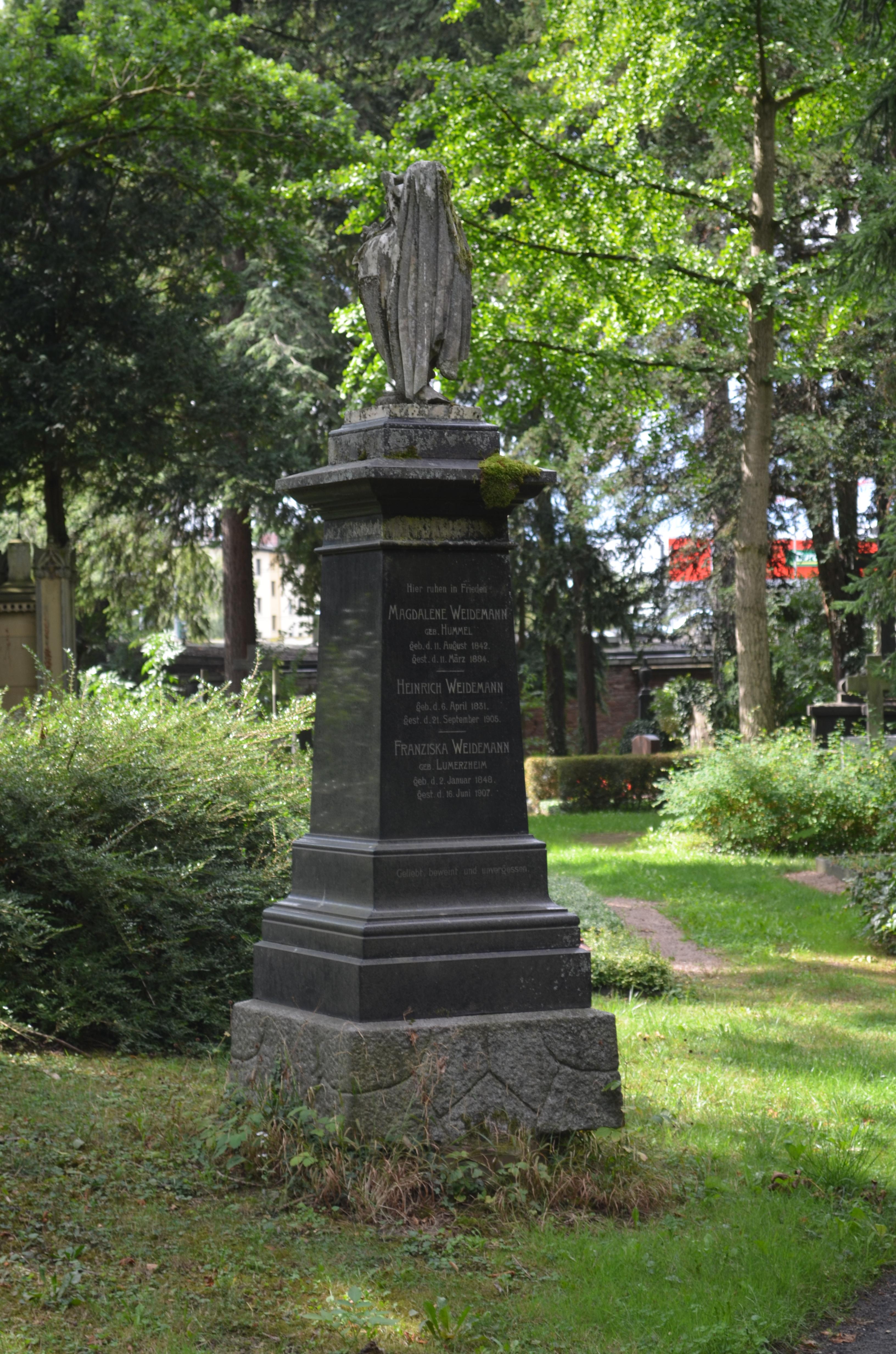 Dateifrankfurt Hauptfriedhof Grab D 268 Weidemannjpg Wikipedia