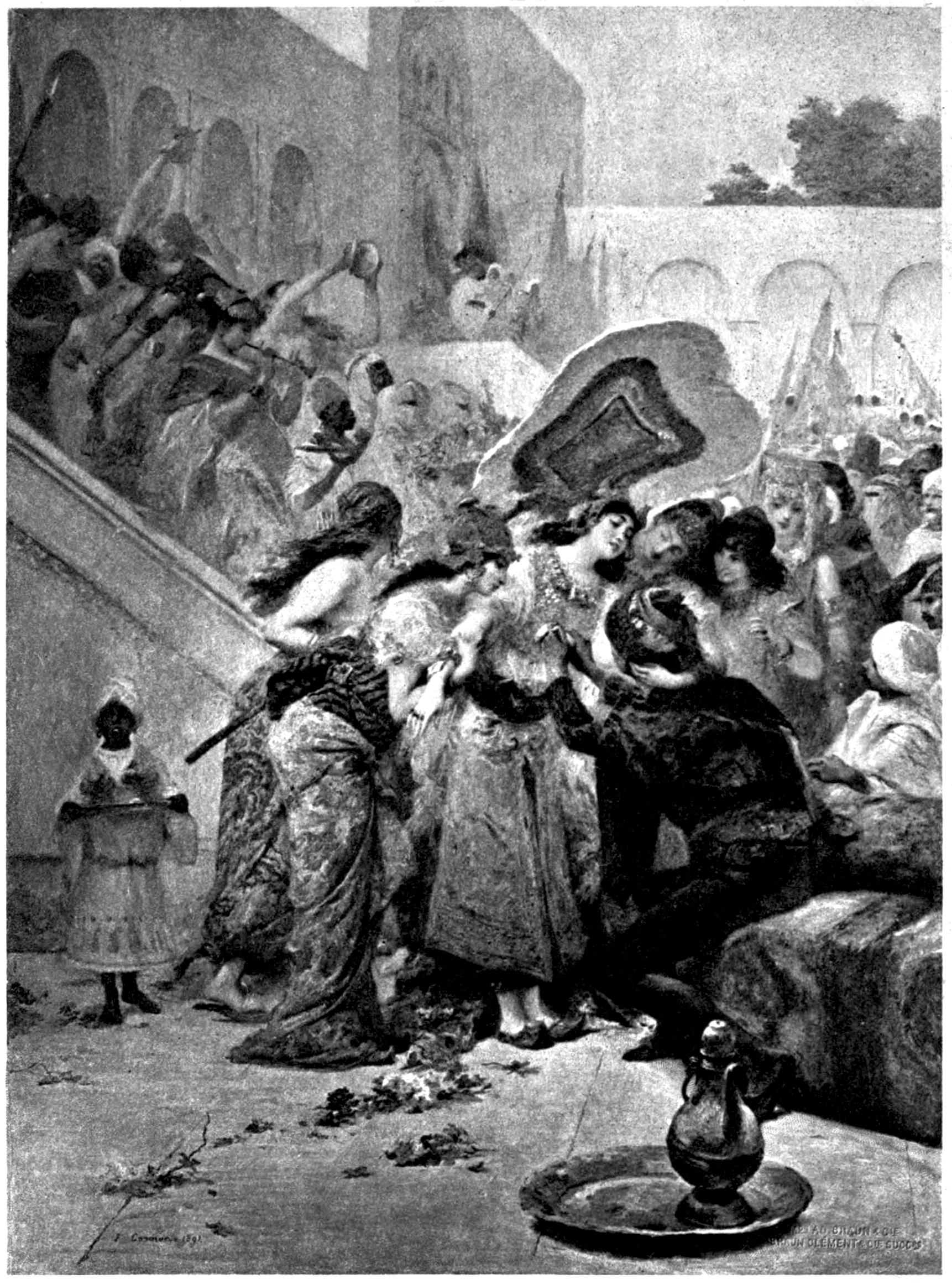 Frontispiece of Burton's Arabian Nights, volume 1