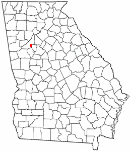 Location of Red Oak, Georgia
