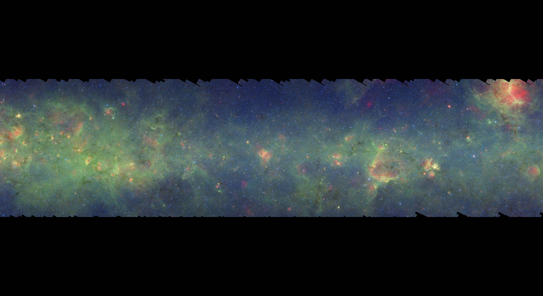 银河系全景图图片