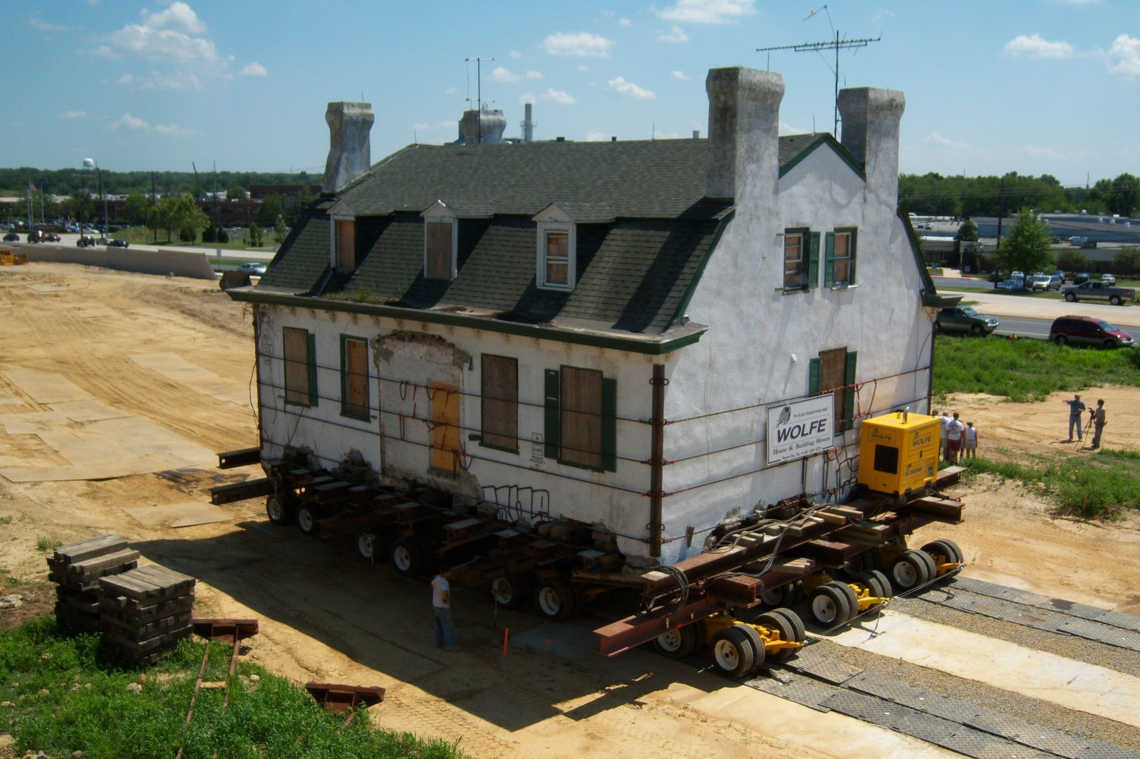 File hydrolic dollies relocate house in newark delaware House build