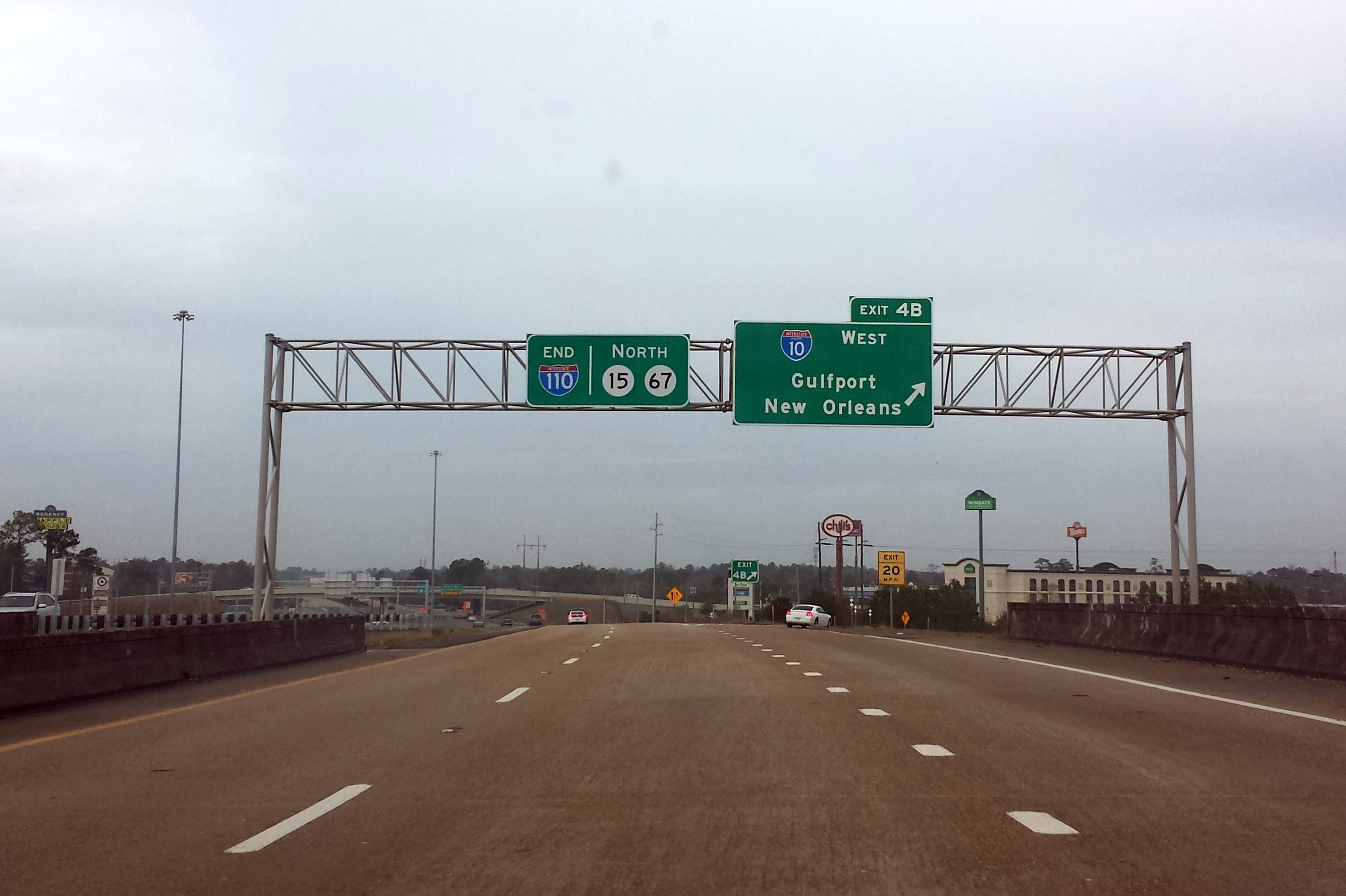File I 110 Northern Terminus In D Iberville Ms Jpg