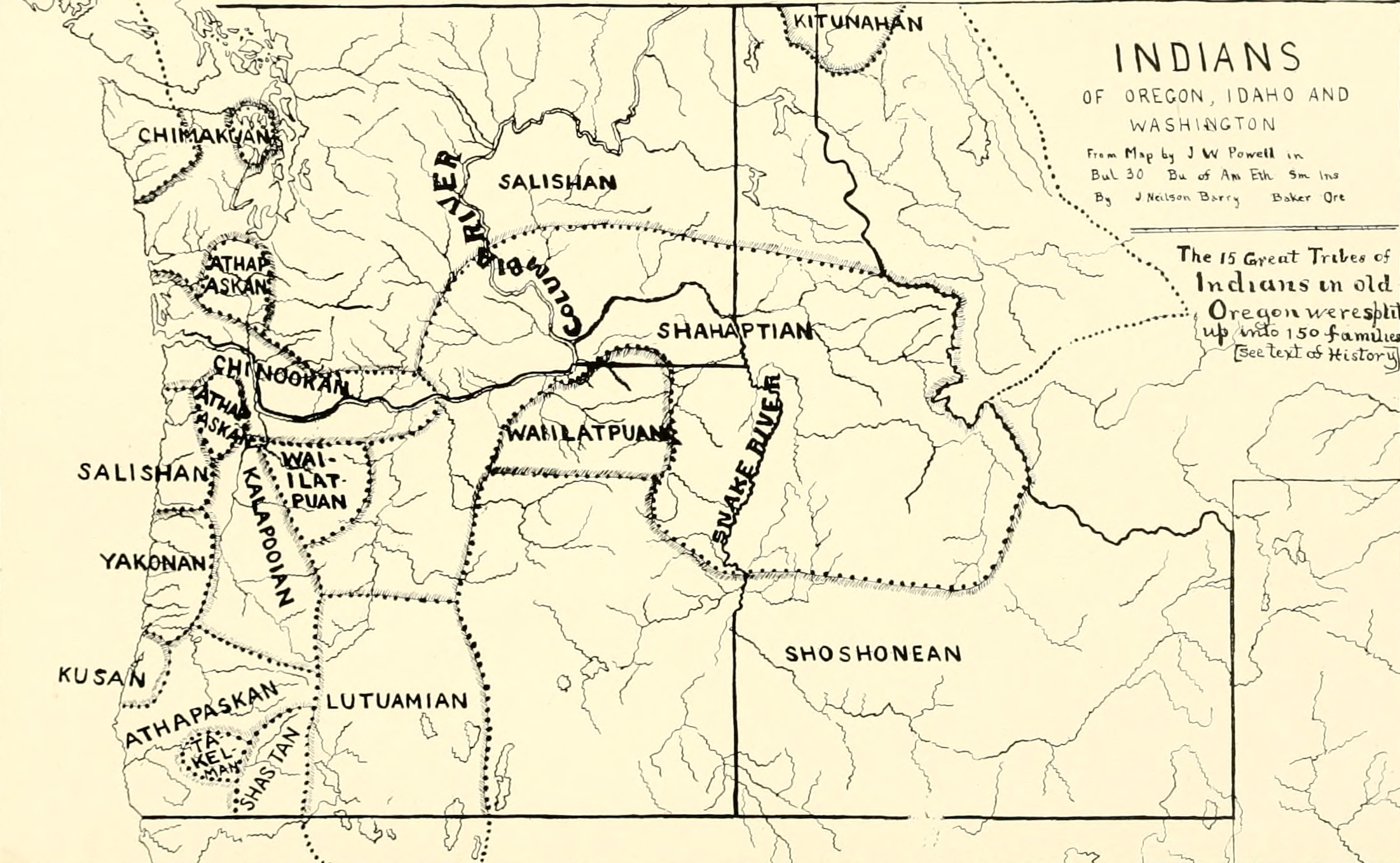 FileIndians Of Oregon Idaho And Washington Mappng - Map of oregon and washington