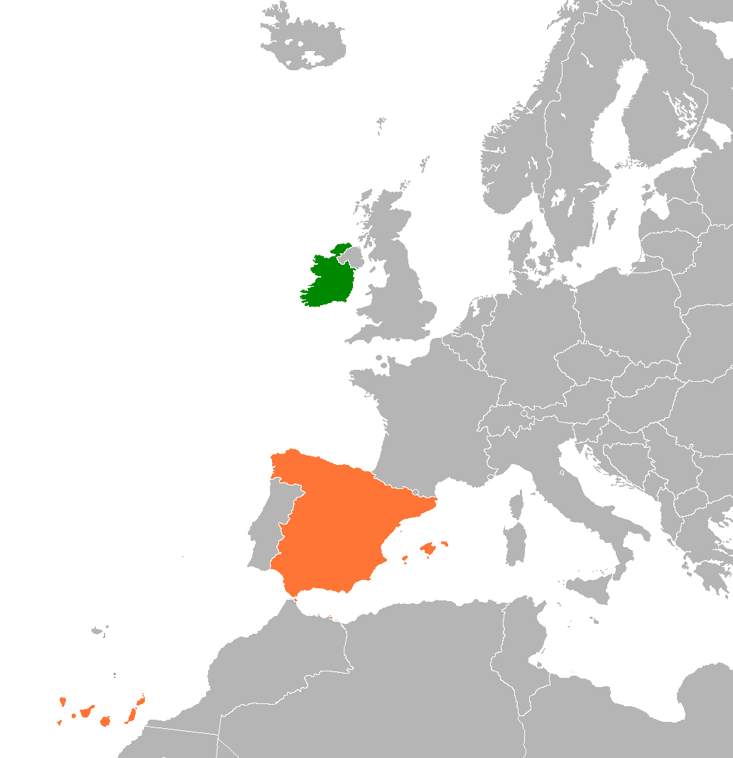 States Visited Map >> Ireland–Spain relations - Wikipedia