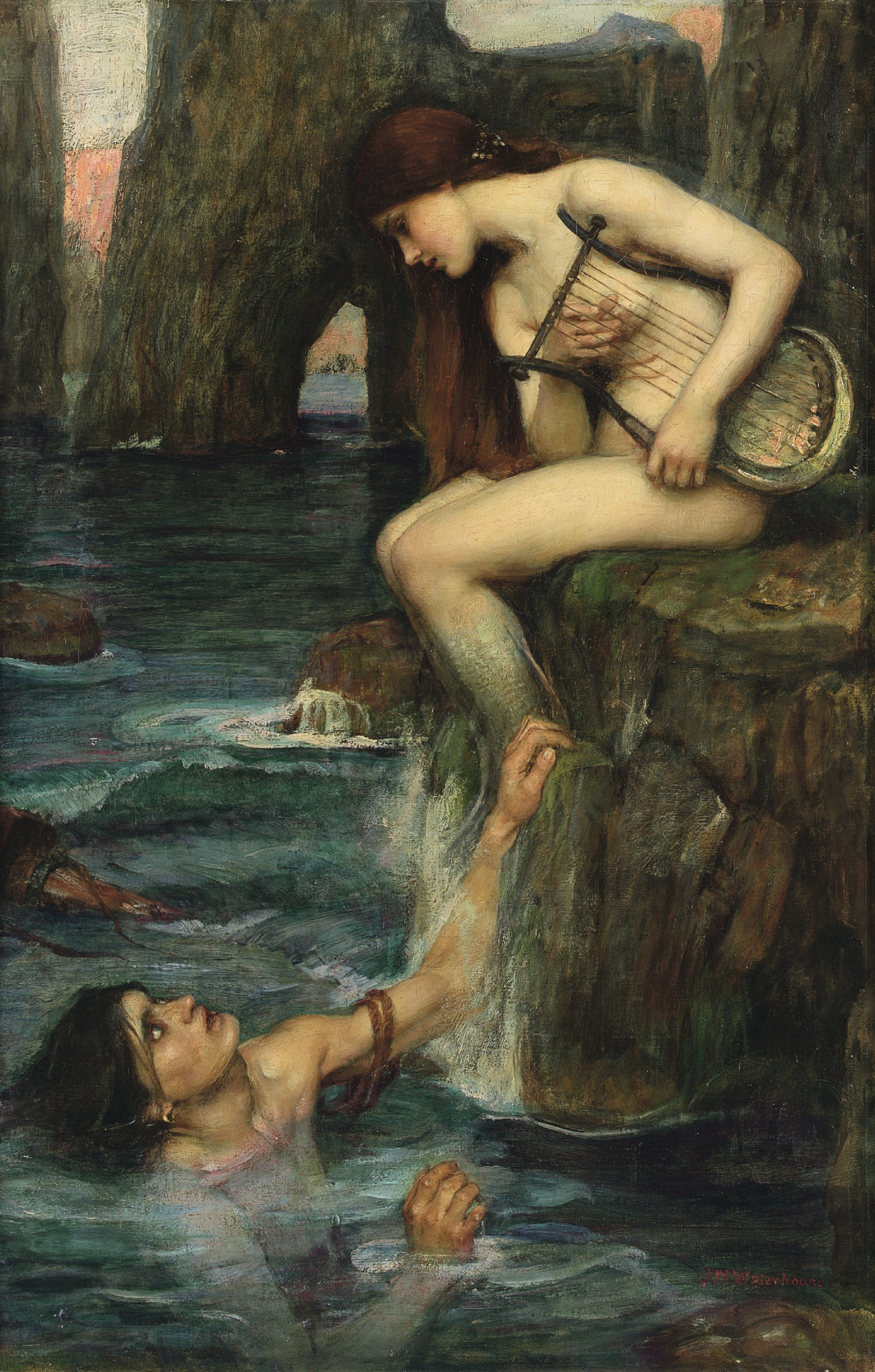 An image of The Siren by John William Waterhouse.