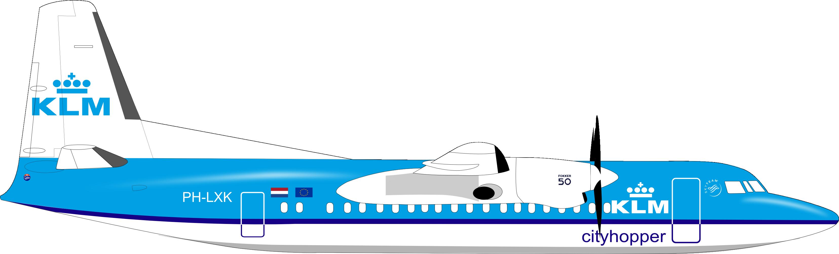 Resultado de imagen para KLM Fokker 50 png