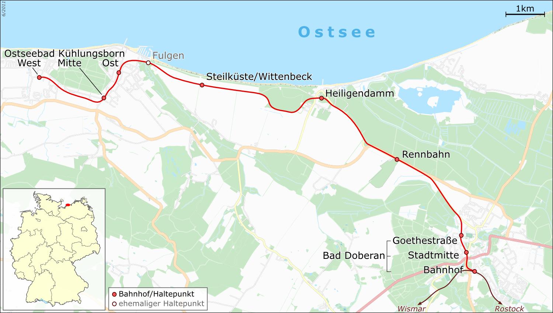 Carte Allemagne Kuhlungsborn.Molli Railway Wikipedia