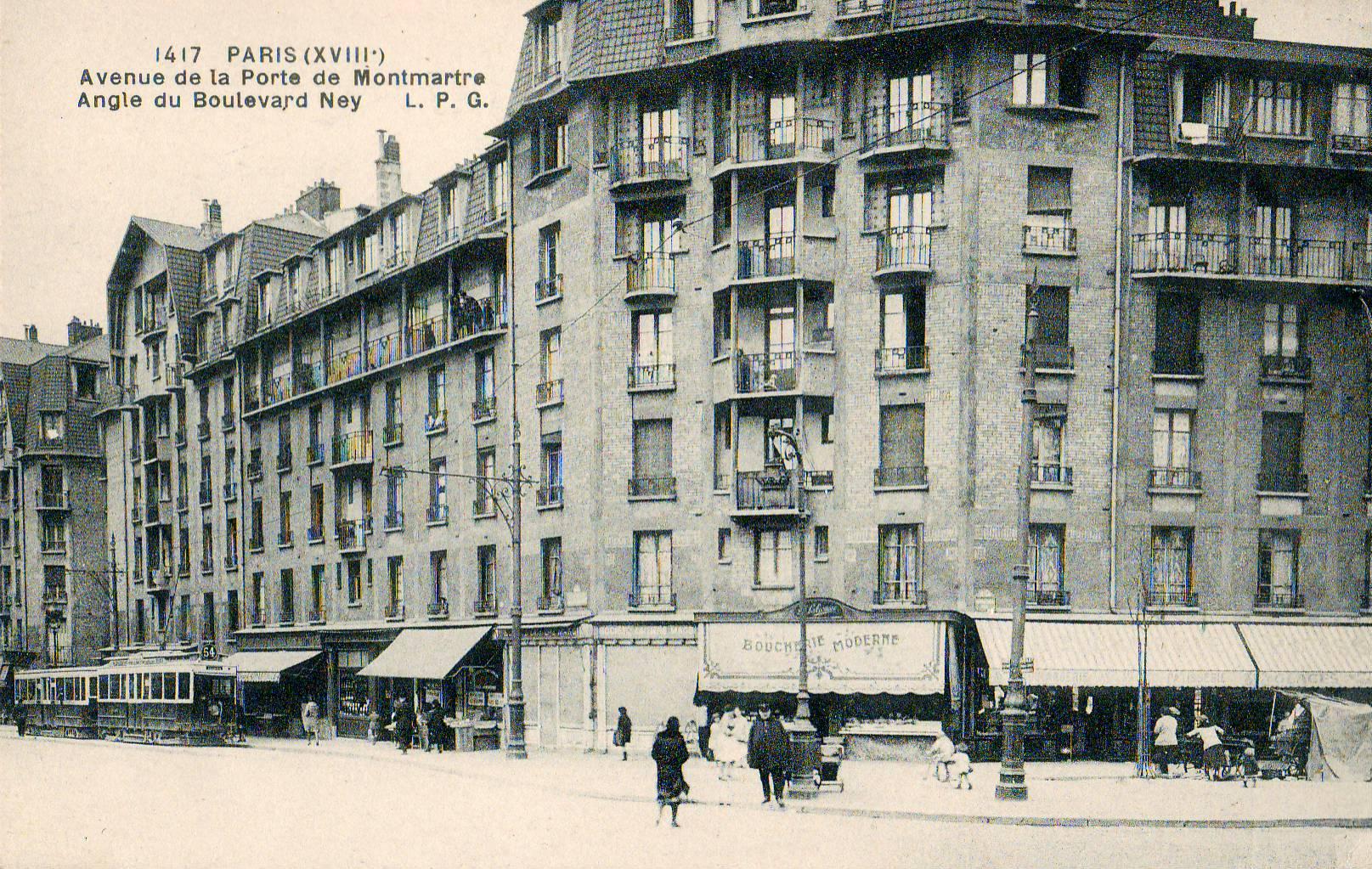 http://upload.wikimedia.org/wikipedia/commons/e/e1/LPG_1417_-_PARIS_(XVIII)_-_Avenue_de_la_Porte_de_Montmartre_-_Angle_du_Boulevard_Ney.JPG