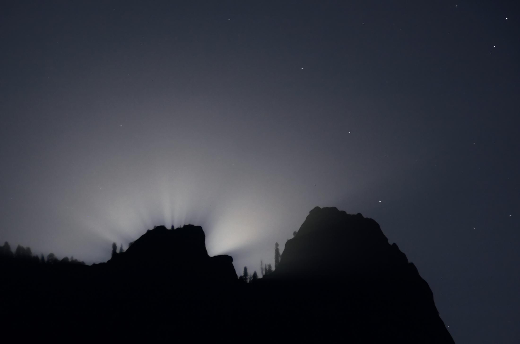 Lunar Crepuscular Rays 2