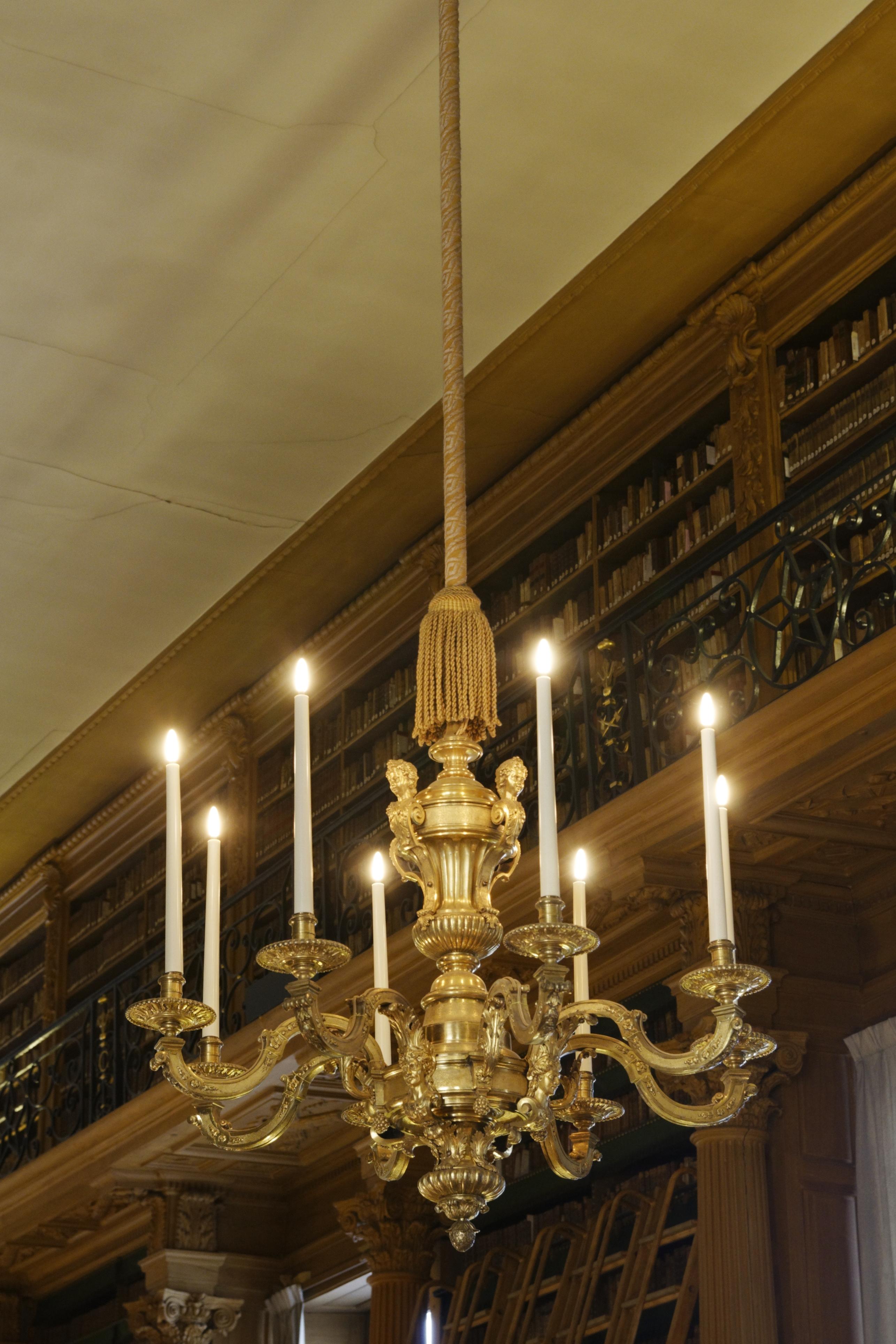 Lustre Paris : File lustre en bronze dore bibliotheque mazarine paris g