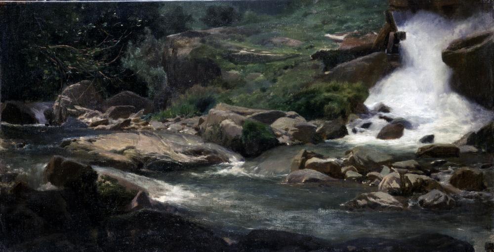 Мартин Рико-и - Ортега- Ландшафтное исследование (Водопад) - A132 - Испаноязычное общество America.jpg