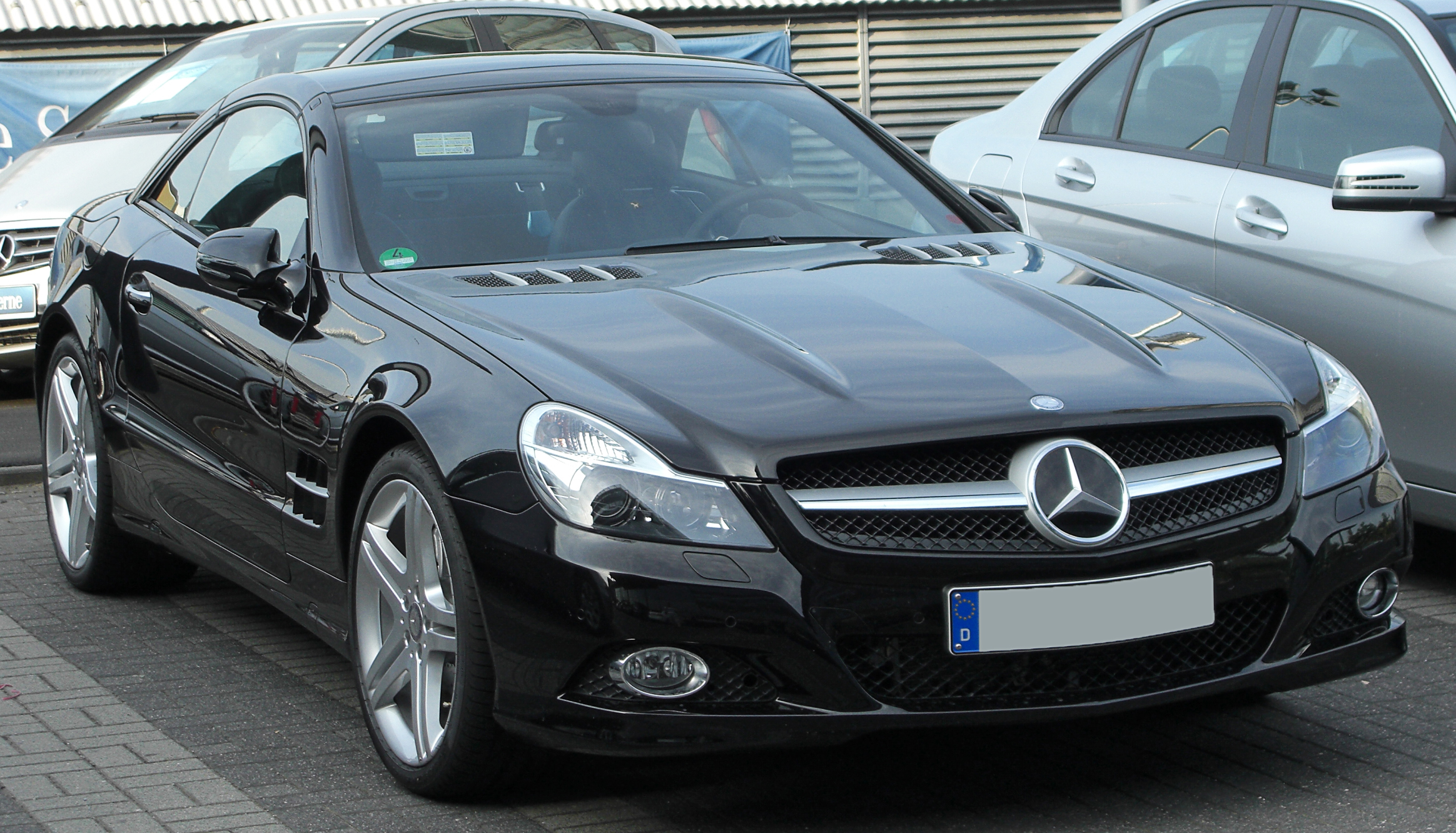 file mercedes sl 500 r230 ii facelift front wikimedia commons. Black Bedroom Furniture Sets. Home Design Ideas