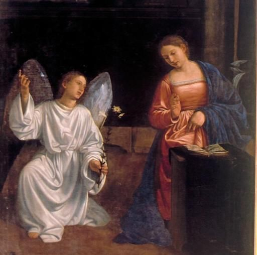 Love Each Other When Two Souls: Annunciazione (moretto)