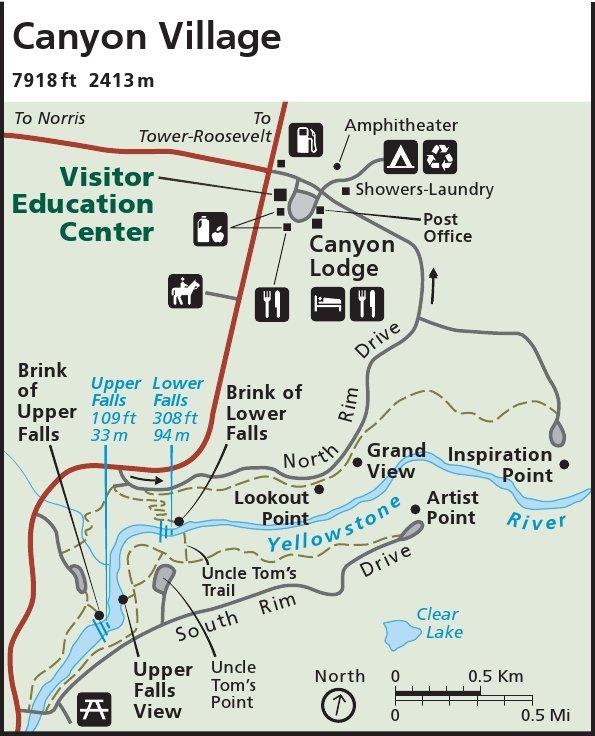 File Nps Yellowstone Canyon Map Jpg Wikimedia Commons
