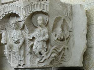 A detail from the Crusaders' church of Annunci...